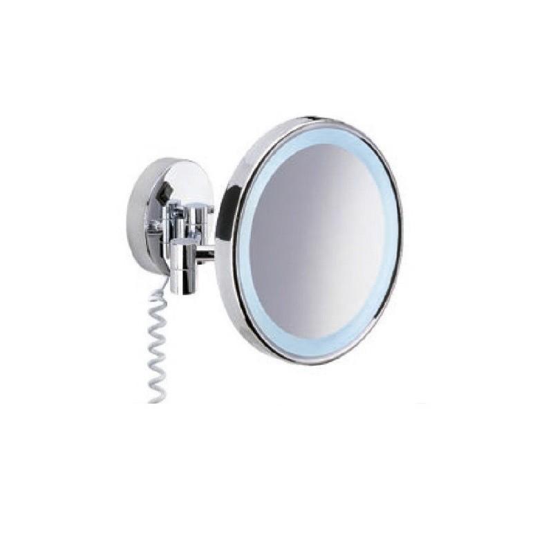 Espejo De Aumento Led Latón Cromado 200