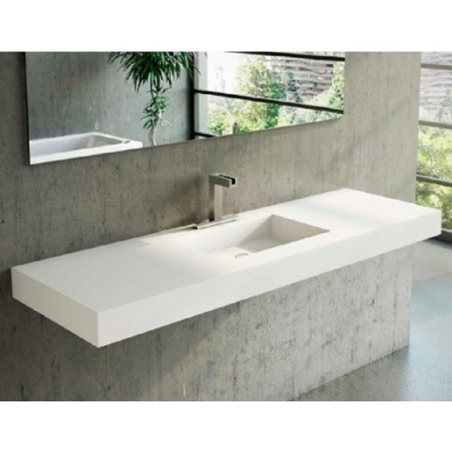Lavabo Solid Surface seno central faldon 10 cm