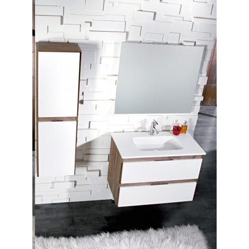 Lavabo Solid Surface Integrado seno central