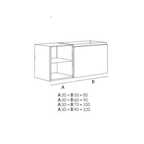 Niza Conjunto de Mueble de Baño de Sergio Luppi