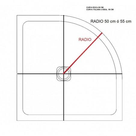 Mampara  de Ducha Semicircular Mod. Niza