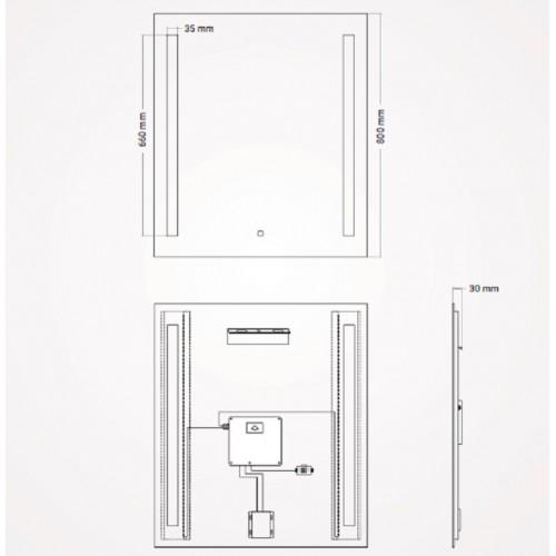 Espejo Retroiluminado Edis de Torvisco