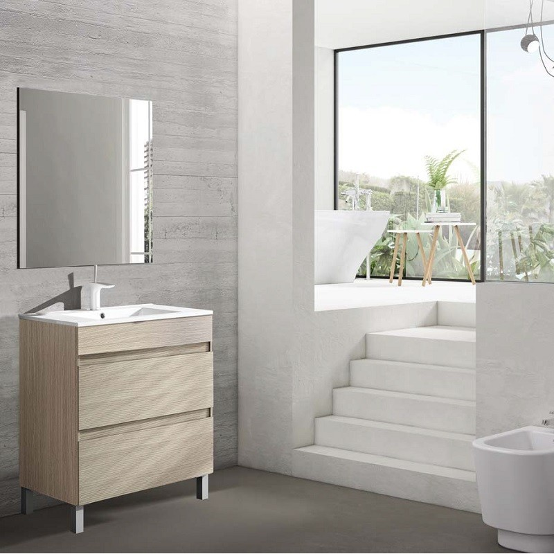 Conjunto Mueble de Baño Box 3 Cajones de Viso Bath