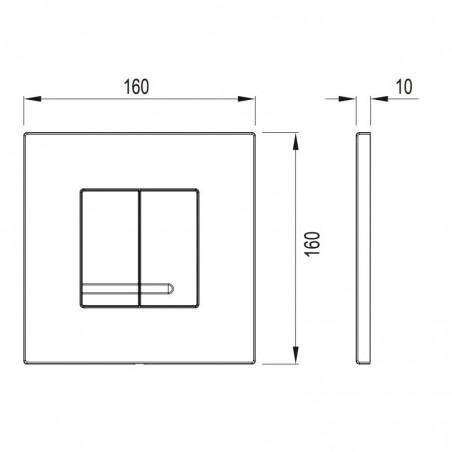 Pulsador Cisterna empotrada Wisa XS/XF DELOS DF plastico