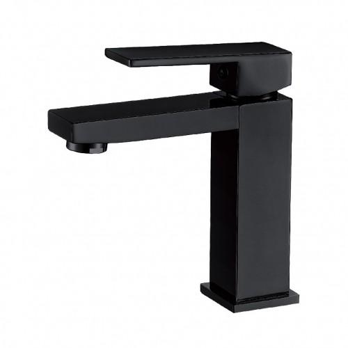 Grifo de lavabo monomando  negro mate serie PLANA