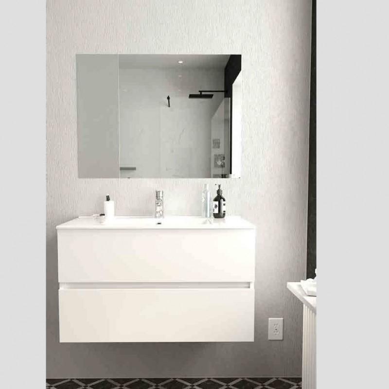 Conjunto mueble de Baño Berk de Torvisco suspendido 2 cajones