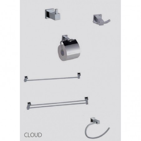 Toallero Doble 45 Cm Cloud