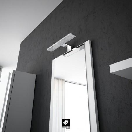 Espejo De Baño Mod. Aral Blanco Mate