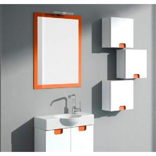 Detalle espejo naranja